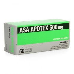 ASA APOTEX 500MG 60 COMP