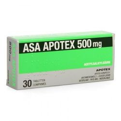 ASA 500 MG APOTEX 30 COMP