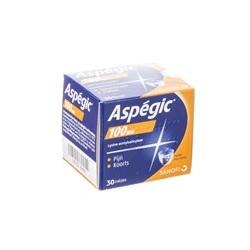 ASPEGIC 100MG 30 SACHETS