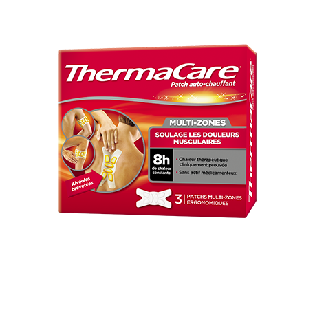 THERMACARE PATCH AUTO-CHAUFFANT MULTI-ZONES 3 PIECES