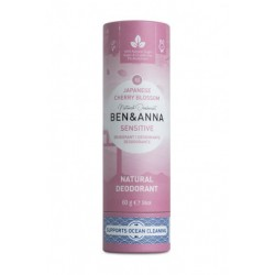 DEODORANT NATUREL TUBE EN CARTON JAPANESE CHERRY BLOSSOM SENSITIVE BEN & ANNA 60 GR