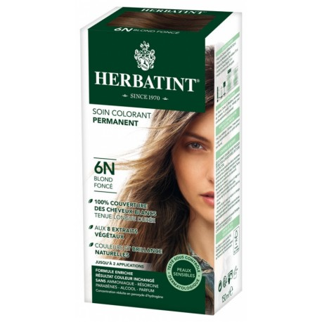 HERBATINT SOIN COLORANT PERMANENT 6N BLOND FONCE 150ML