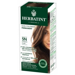 HERBATINT SOIN COLORANT PERMANENT 5N CHATAIN CLAIR 150 ML