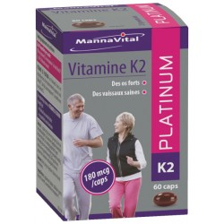 MANNAVITAL VITAMINE K2 PLATINUM 60 CAPSULES